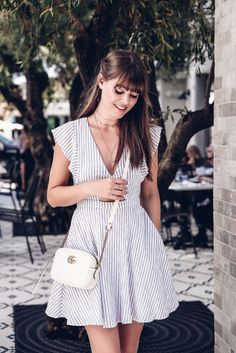 Pin Striped Dress | Jenny Cipoletti of Margo & Me