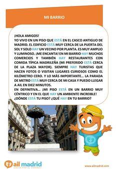 02c3608125ce68b395471c1479b4393d teaching spanish madrid en mi barrio imaginario 1 2 spanish learning pinterest