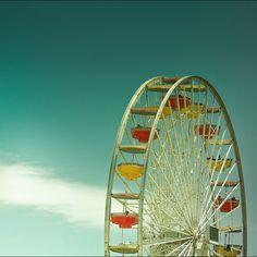 Ferris Wheel - Santa Monica Pier. How many times have I ridden this ferris wheel with a boyfriend?