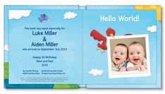 NEW! Hello World! Twins Personalized Book  #twins #multiples #multiplesbirthawarenessmonth