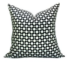 Schumacher Betwixt pillow cover in Black/White