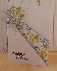 Hello, this card is something I had been wanting to try for a while, I made a card a few months ago, which had a recessed panel going down t...