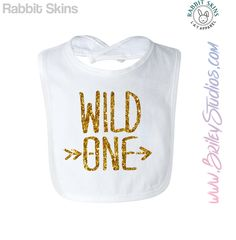 "Glitter First ""1st"" Birthday Party Infant Bib for Smash Cake, Wild One by BrileyStudios on Etsy"