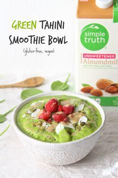 Simple Truth Green Tahini Smoothie Bowl | Gluten-free, Vegan | The Plant Strong Vegan