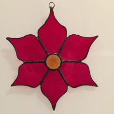 Poinsettia, Stained Glass Poinsettia, The Christmas Flower, Ornament, Sun Catcher