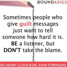 This is second-hand guilt, when people try to make you responsible for their actions. #guilt #boundaries