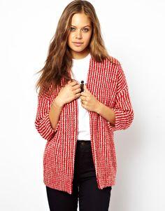 ++ kimono in textured stripe