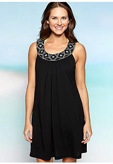 Kim Rogers® Knit Embroidered Cover-Up