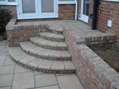 small patio & steps