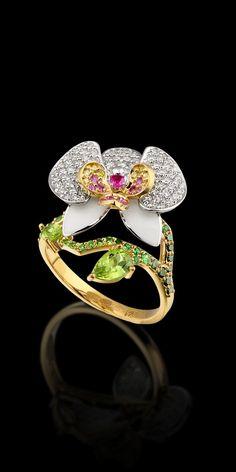 Maestro Exclusivo Joyería - Colección - flores de diamantes: