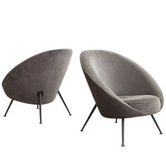 813 'Egg' Lounge Chairs by Ico & Luisa Parisi, 1952
