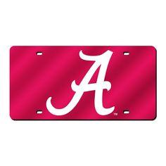 Alabama Crimson Tide NCAA Laser Cut License Plate Cover