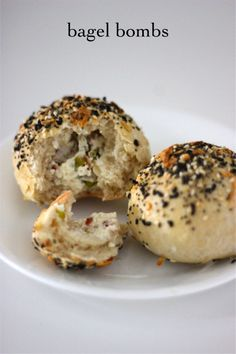 Sometimes savory is better than sweet. And since it's been a bit of a sweets overload on this site, this was a great palette cleanser. These bagel bombs are little pockets of dough filled wit…
