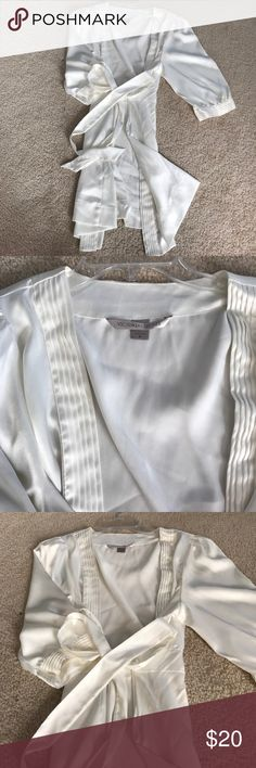 Victoria's Secret silk robe White robe. Perfect condition. Worn a handful of times.  Mid thigh length Victoria's Secret Intimates & Sleepwear Robes