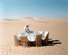 lunch on the dunes - photo credit: philip lorca dicorcia, w mag