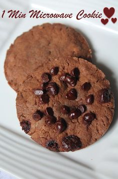 1 Min Microwave Eggless Cookie Recipe / How to Make Chocolate Cookies in Microwave
