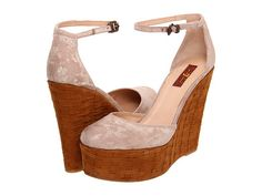 7 For All Mankind Yolanda Mauve White Brush Off Platform Wedge, Bold Fashion, Wedge Heels, Mauve, Ankle Strap, Espadrilles, Size 10, Toe, Wedges
