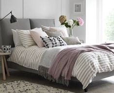 Create your own Custom Bed with Button & Sprung. Request up to 8 FREE fabric samples & product cards for next day delivery. Master Bedroom Design, Home Bedroom, Bedroom Decor, Bedroom Ideas, Bedroom Storage, Bedroom Lighting, Bedroom Wall, Home Interior, Interior Design