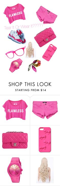 """""""ALL PINK(THAT MEANS FLAWLESS)"""" by mynameisyaya ❤ liked on Polyvore featuring Billabong, Chanel, Victoria's Secret, Marc by Marc Jacobs, Julia Cocco', women's clothing, women, female, woman and misses"""