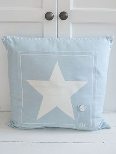 Star Cushion - Pale Blue