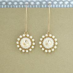 Pendientes de novia perlas collar con arete de perla
