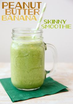 Peanut Butter Banana Skinny Green Smoothie