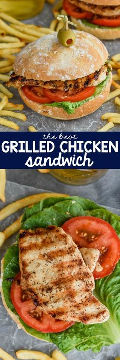 Skip the take out and make the BEST Grilled Chicken Sandwich recipe right at home. This grilled chicken sandwich marinade is such an easy recipe and it will become a fast favorite in your house! #grilledchickensandwich #chickenrecipe
