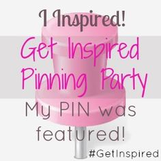Get Inspired With Us Pinning Party! I am co-hosting this week and my DIY Witch's Brew is being featured. Come and link-up your favorite pins! Thursday-Sunday