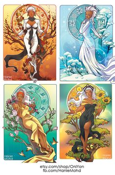 Storm for All Seasons A6 mini prints FULL SET by OniYon on Etsy