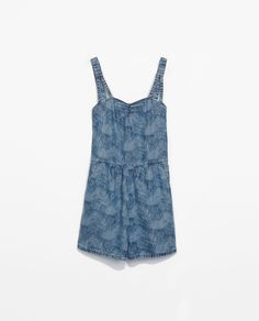 PRINTED PLAYSUIT - Dresses - TRF - SALE | ZARA Canada Ref. 1300/009 59.90 CAD OUTER SHELL 100% LYOCELL