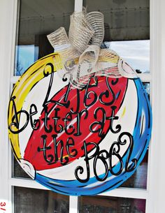 BEACH+BALL+Wood+Cut+Out+Door+Hanger+by+TheWaywardWhimsy+on+Etsy,+$35.00