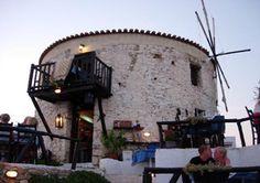 skiathos - mill restaurant Skiathos Island, Banana Beach, Greek Islands, Cyprus, Night Life, Mount Rushmore, Greece, Fair Grounds, Restaurant