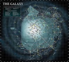 The Galaxy Map Star Wars Large Detailed Art Poster Print Photo Paper Star Wars Planets, Star Wars Rpg, Poster Wall, Poster Prints, Art Print, Planet Map, Galaxy Map, Star Wars Species, Star Wars Poster