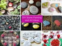 First, of course, you need to find the perfect stone. Look for smooth rounded stones. Maybe you have a certain design in mind. Or you can take reference of below DIY stone painting and art ideas.