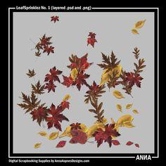 Oscraps :: Shop by Designer :: Anna Aspnes Designs :: LeafSprinklez No. 1