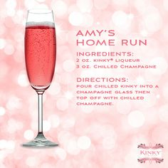 """KINKY is a hot #wedding trend! @Stéphane Rasselet. Louis Cardinals pitcher Shelby Miller celebrated his marriage with a fun """"Amy's Home Run"""" KINKY signature #cocktail #recipe http://nyti.ms/1cd9s5Z"""