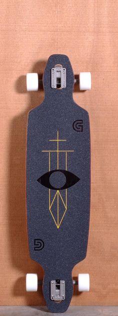 "Goldcoast Serpentagram Longboard Complete 40"""