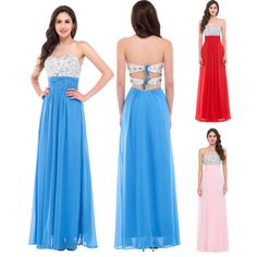 Long-Beads-Formal-Chiffon-Prom-Party-Bridesmaid-Evening-Ball-Gown-Cocktail-Dress