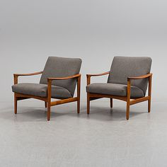 BRÖDERNA ANDERSSON, armchairs, a pair of 1900-the second half.
