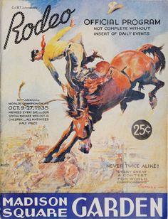 "Madison Square Garden Rodeo   Madison Square Garden Rodeo 1935 - [11"" x 14"" Custom Art Print]"