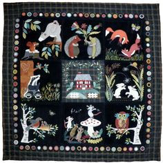 C'est ma Nature, Woollen Applied Pattern with templates and explanations in french: Motifs Applique Laine, Wool Applique Quilts, Wool Applique Patterns, Wool Quilts, Wool Embroidery, Hand Applique, Felt Applique, Primitive Quilts, Penny Rugs
