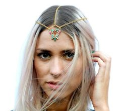 Glastonbury Festival Fashion Inspiration. Indian bead, delicate head-dress LOVE AND WANT