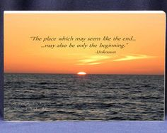 Sunrise Photo With Quote With The New Day by DigitalPhotoGifts