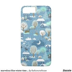 marvelous blue winter time fun iPhone 7 plus case