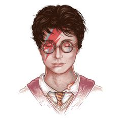 Picture of the Week- Harry Stardust (Potter and Bowie Mashup)
