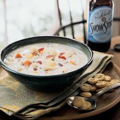 Bacon brings a welcome smokiness to this fish chowder. Serve with oyster crackers on a cold night and you will warm up in no time.