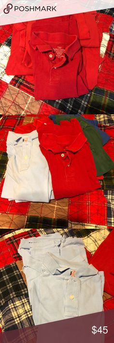 12 Boys School Uniform Shirts Size Large 12/14 12 Boys School Uniform Shirts Size Large 12/14 7 Red Shirts / 1 Royal Blue / 3 Light Blue / 1 Hunter Green.  Excellent Used Condition. Cat and Jack Shirts & Tops Polos