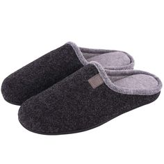0d3ddf5b0089 LongBay Men s Memory Foam Slippers Closed Toe House Home Indoor Lightweight  Comfy Shoes  Amazon.