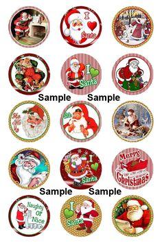 n Christmas Gift Tags Printable, Christmas Labels, Easy Christmas Crafts, Christmas Stickers, Christmas Cookies, Bottle Cap Crafts, Bottle Caps, Free Collage, Badge Template