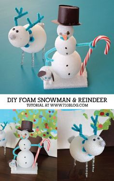 DIY Foam Snowman and
